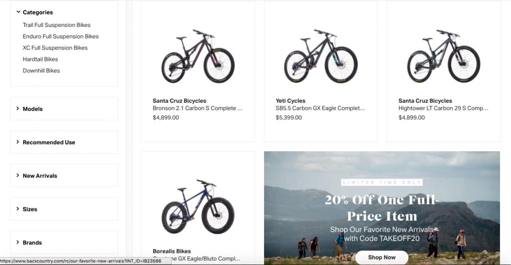 Backcountry Mountain Bikes