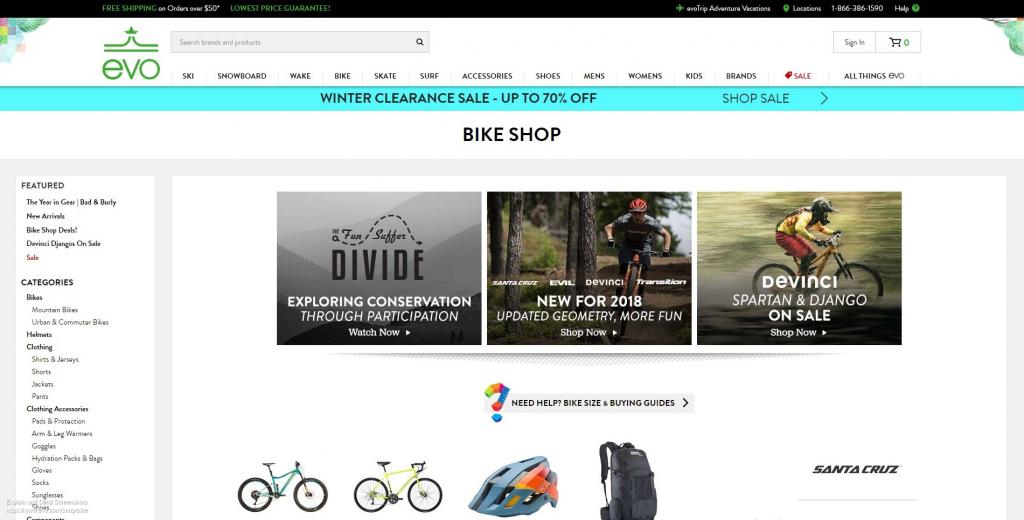 Evo Bike Section